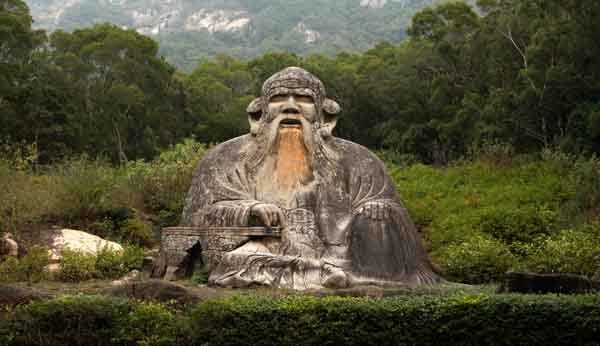 Lao Tzu, writer of Tao Te Ching. Statue in Quanzhou from the Song Dynasty, 960-1279.