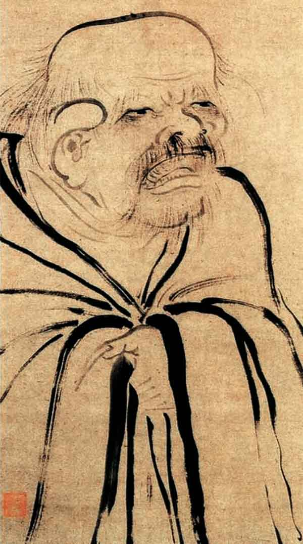 Lao Tzu. Ink by Muxi Fachang, 13th century.