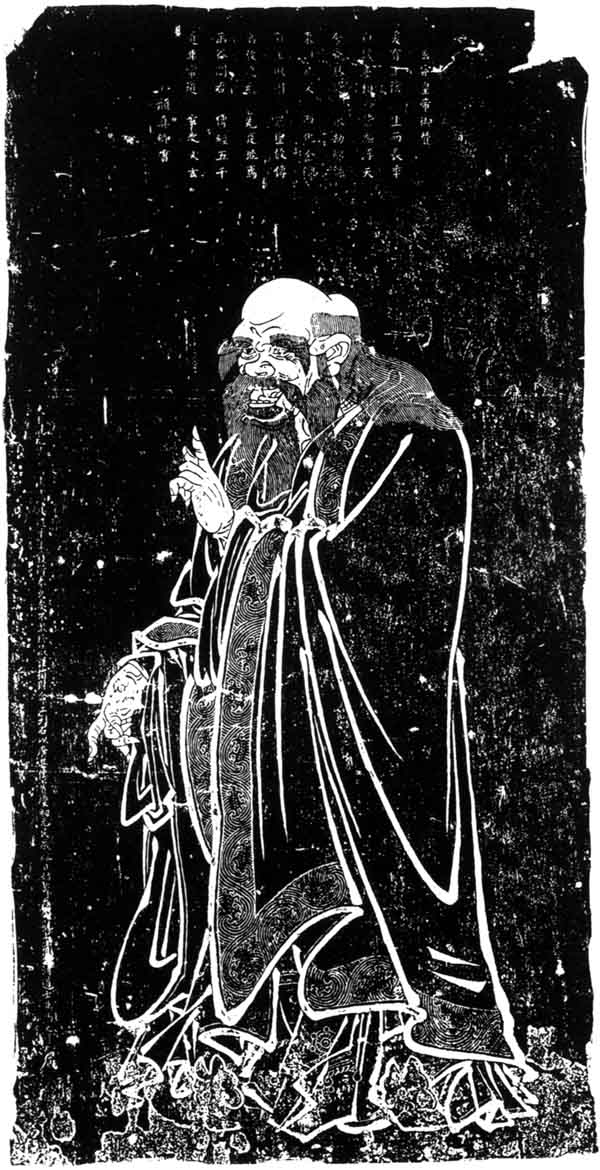 Lao Tzu. Stone rubbing from the 13th Century.