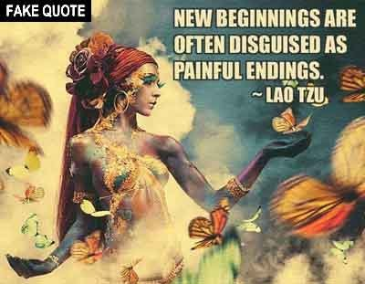 Fake Lao Tzu quote.